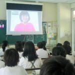 小学校の平和学習でフェイスタイムを使った遠隔授業を致しました