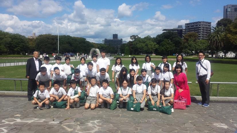 朝日塾小学校の皆様に再会致しました