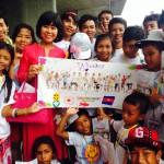 カンボジアの子どもたちに広島を案内致しました。