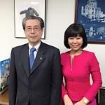 広島平和文化センターの小溝理事長にお目にかかりました